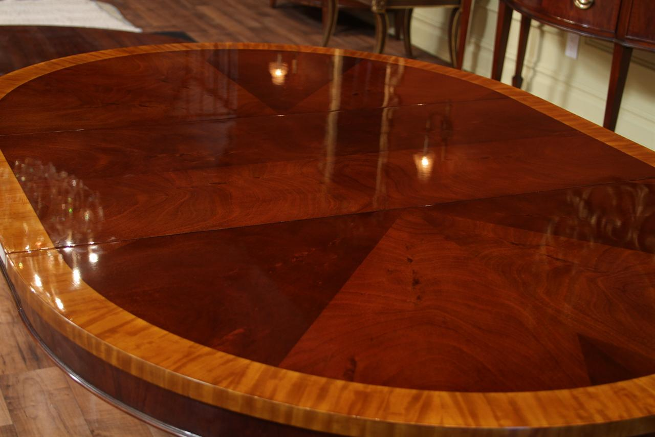 44 round dining room table 1 leaf round mahogany pedestal table 5644
