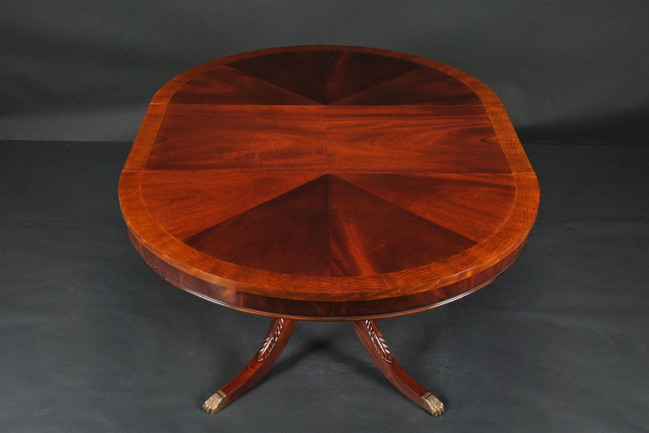 44 round dining room table 1 leaf round mahogany pedestal table