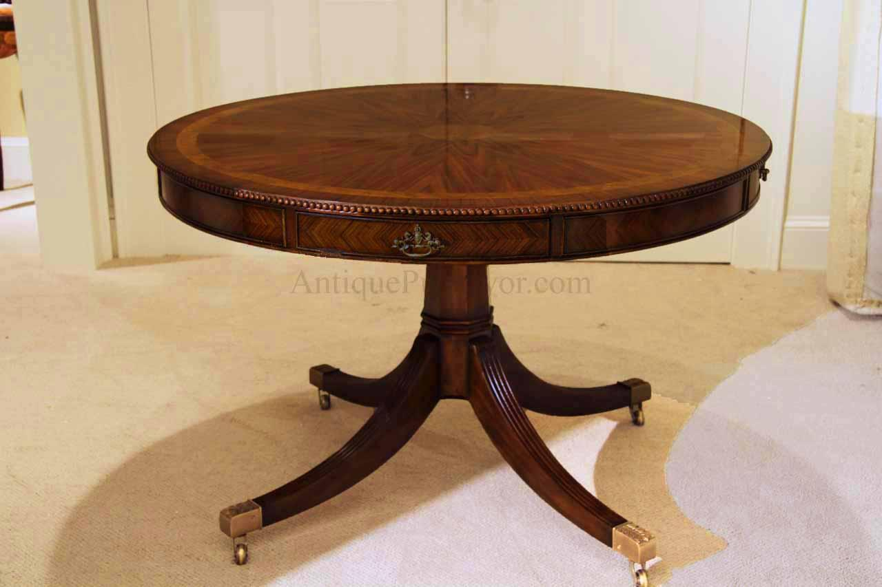 Theodore Alexander 48 Inch Round Mahogany Table AL54014 : 48 inch round formal duncan phyfe rosewood dining table with drawers 11645 from www.antiquepurveyor.com size 1280 x 853 jpeg 73kB