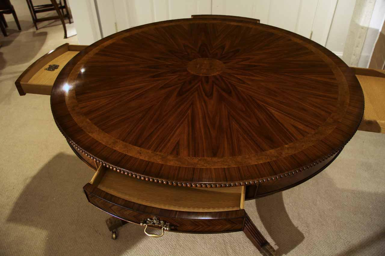 Center Table Drum Table Or Dining Table With Drawers Oak