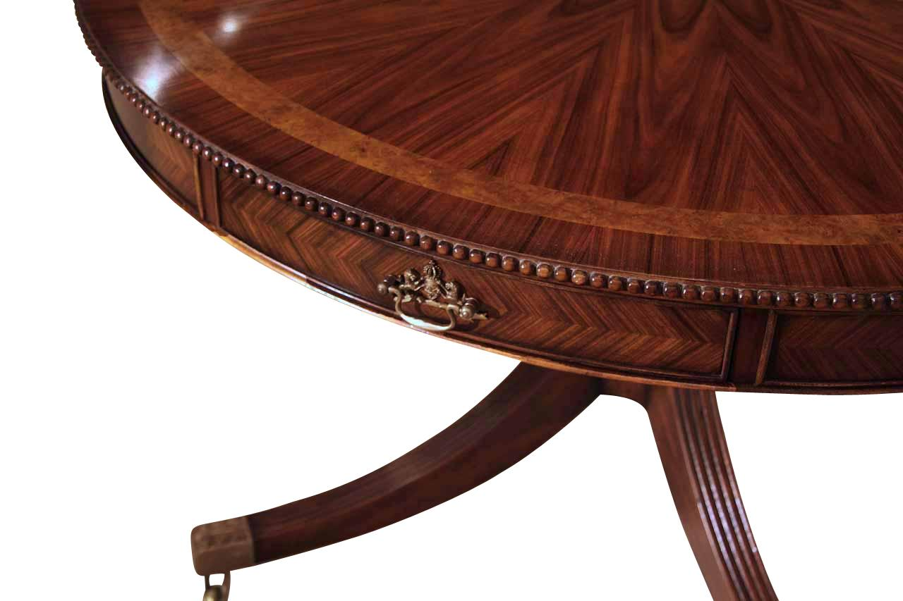 Inch Round Formal Duncan Phyfe Rosewood Dining Table With