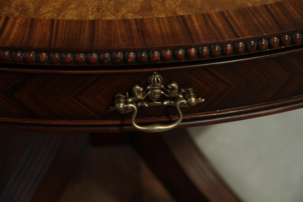 Details about 48 inch round formal duncan phyfe rosewood dining table -  Inches 48 Round Mahogany Dining Table