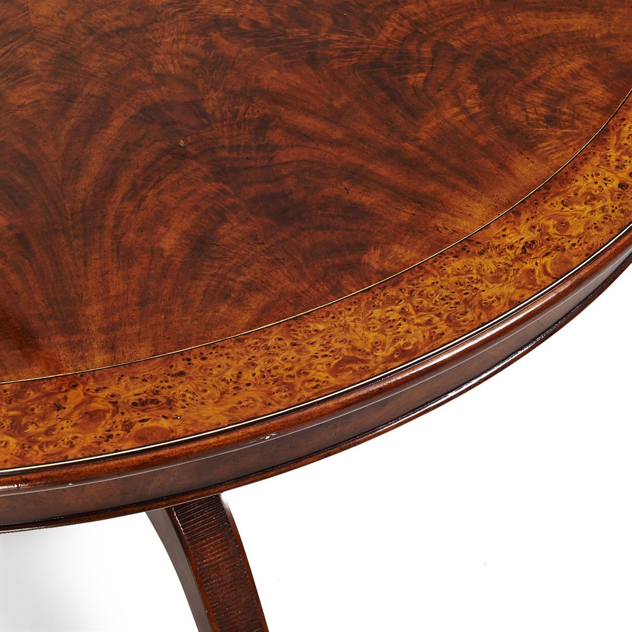 48 inch round to oval walnut and yew banded dining table 48 round table seats how many