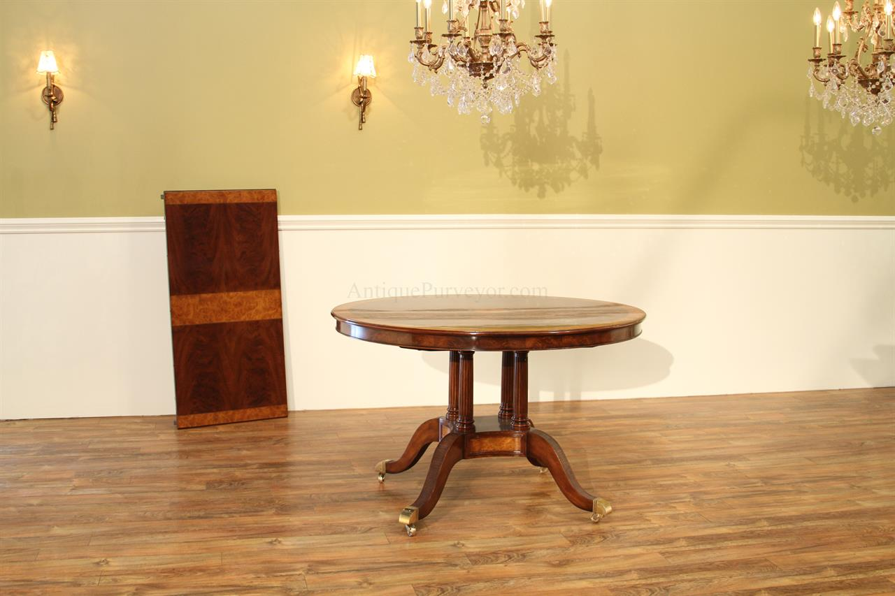 Round dining room tables seats 8