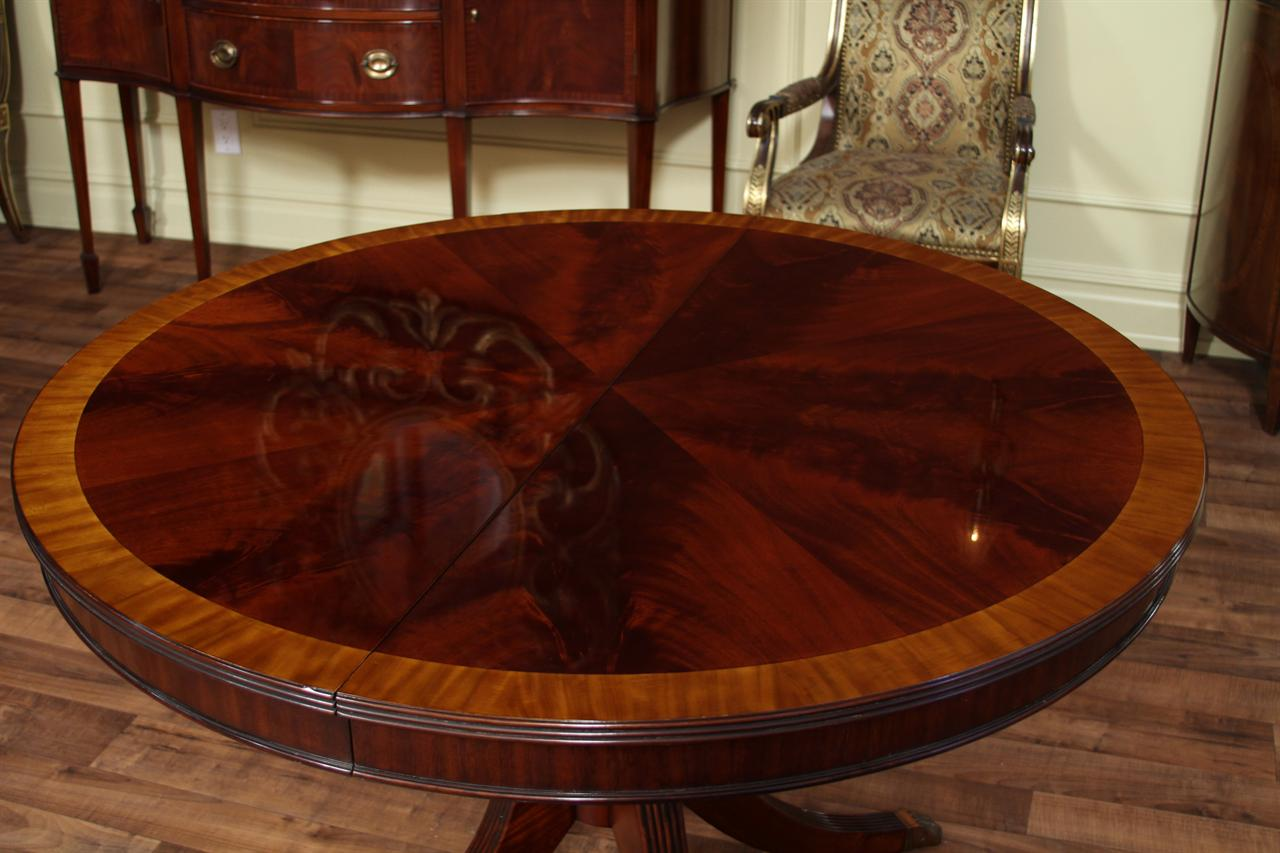 round kitchen table with leaf. 48 round flame mahogany table kitchen with leaf e & Round Kitchen Table With Leaf. Round Dining Table Set With Leaf ...