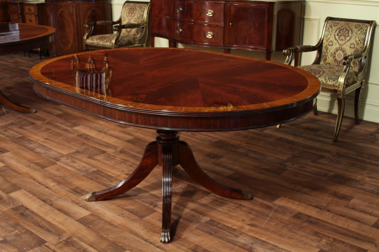 round mahogany dining table with leaf four leg reeded expandable round walnut dining table formal traditional