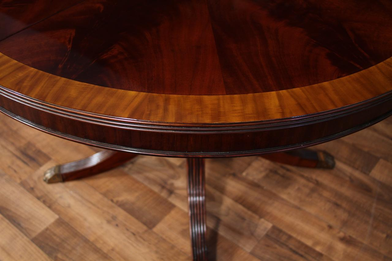 48 Round Dining Table With Leaf Round Mahogany Dining Table Oval 5583