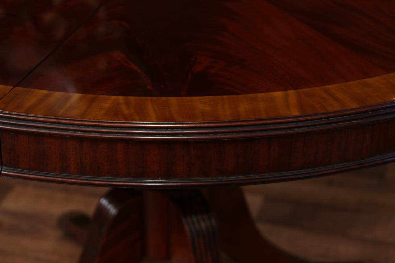 48 Round Dining Table With Leaf Round Mahogany Dining Table Oval 5591