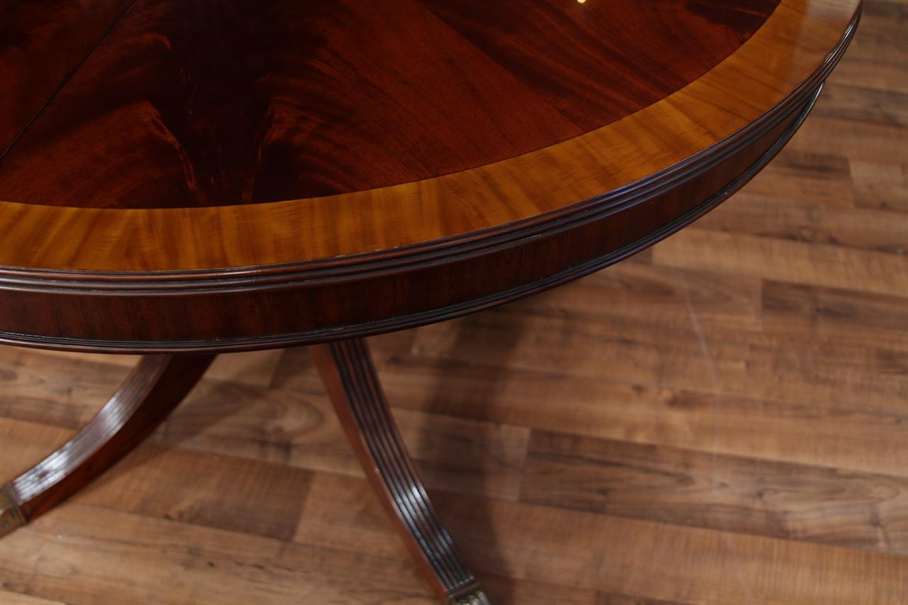 48 Round Dining Table With Leaf Round Mahogany Dining Table