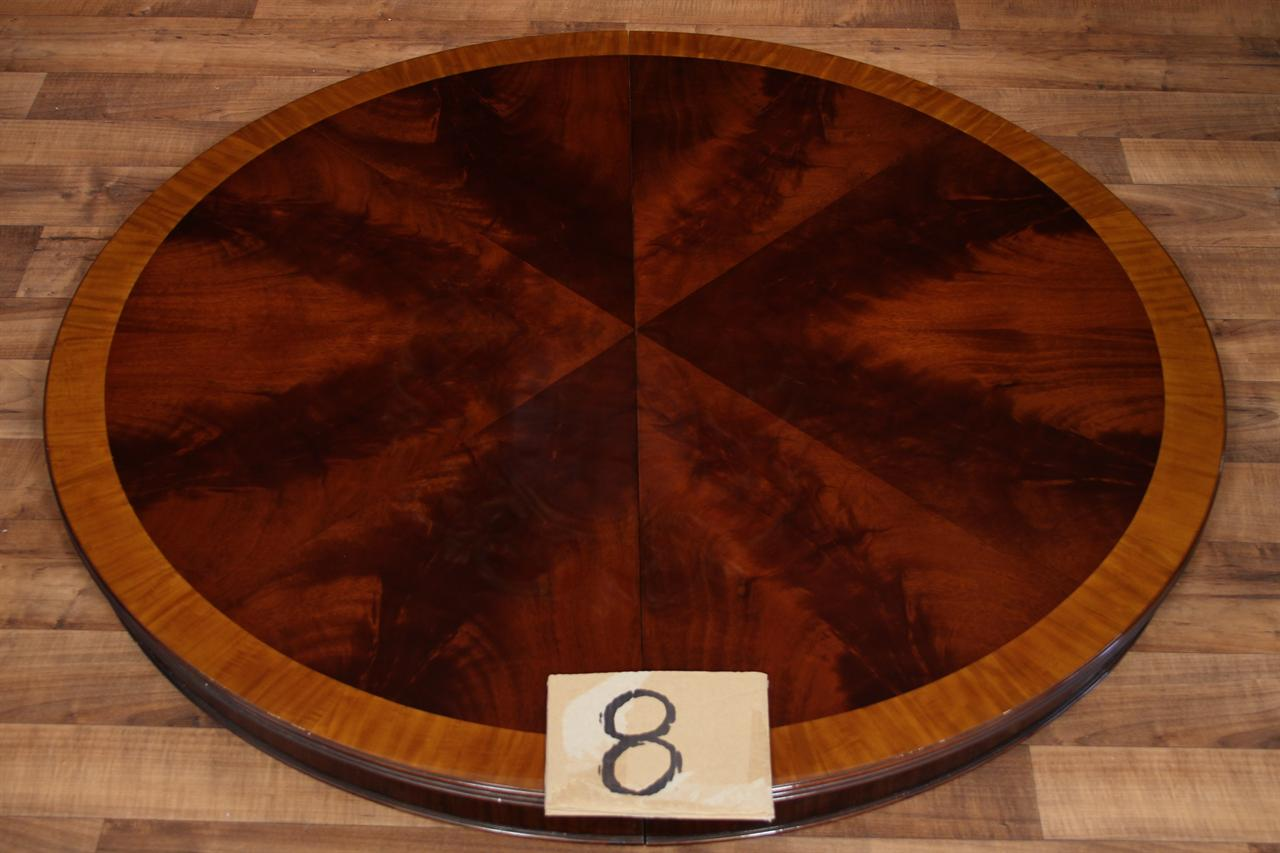 48 Round Dining Table With Leaf Round Mahogany Dining Table Oval 5624