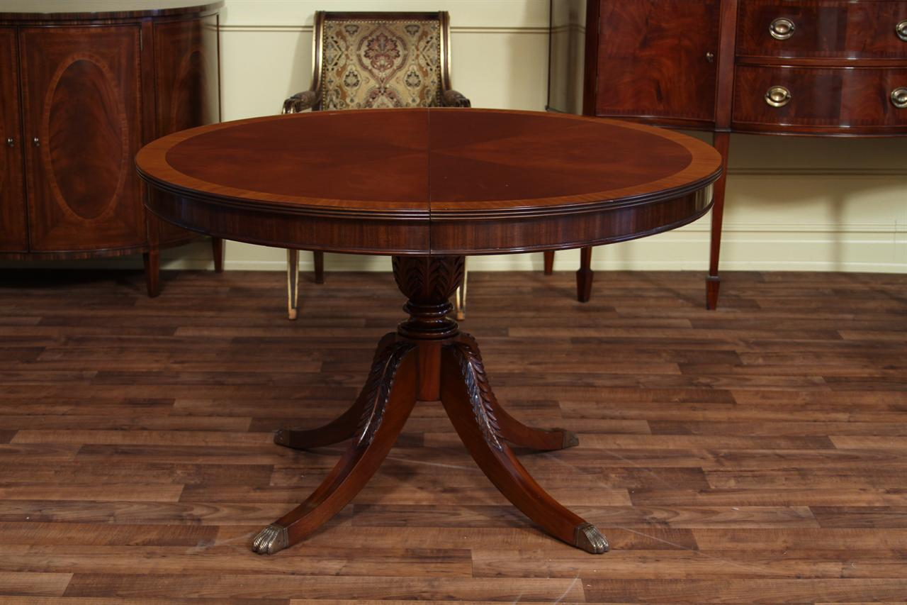 48 round to 66 oval mahogany dining table reproduction for 48 dining table with leaf