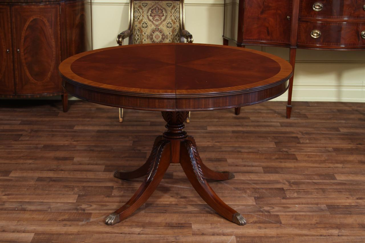 Mahogany Round Dining Table
