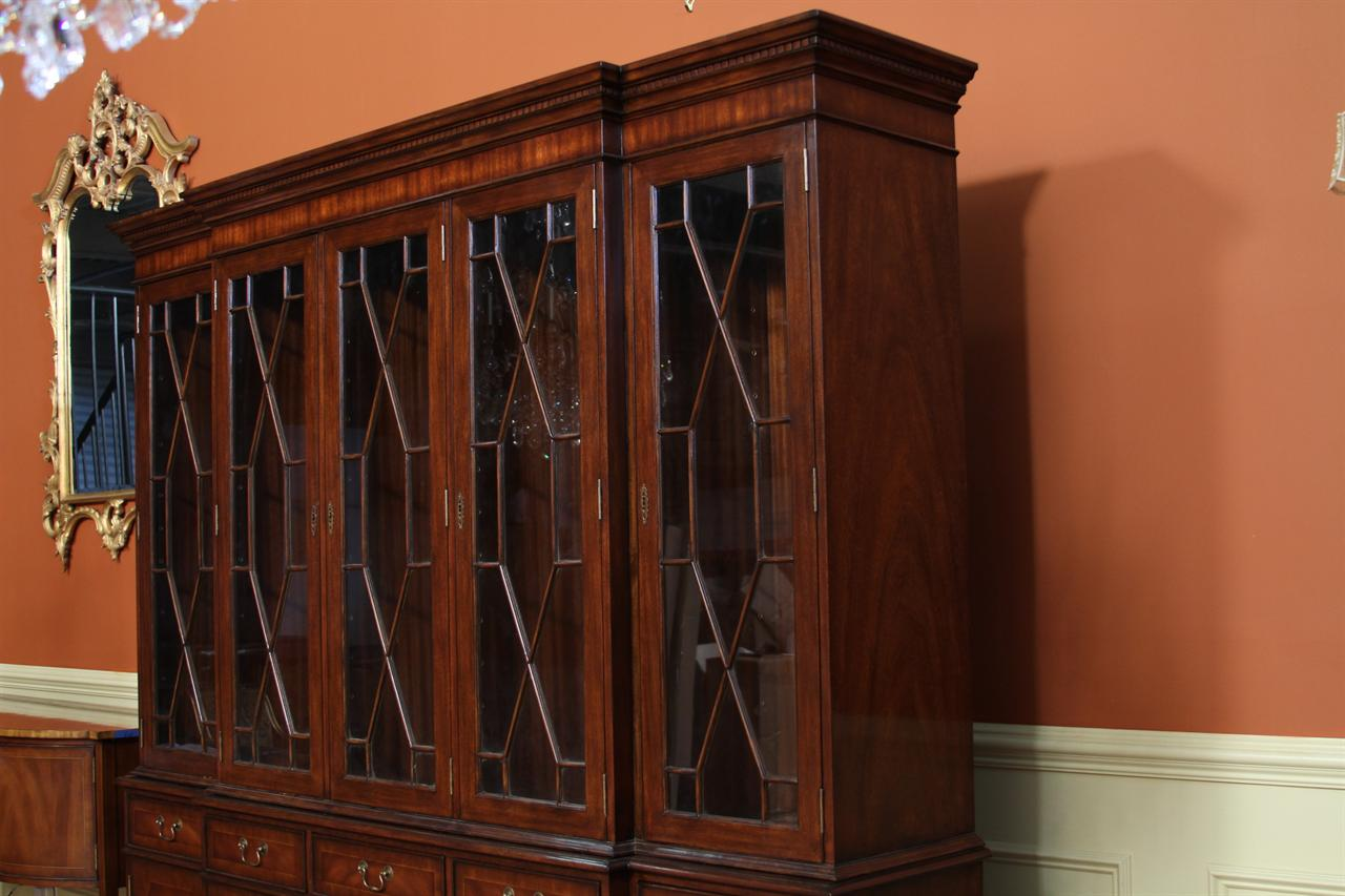 High End Mahogany 5 Door China Cabinet Ebay