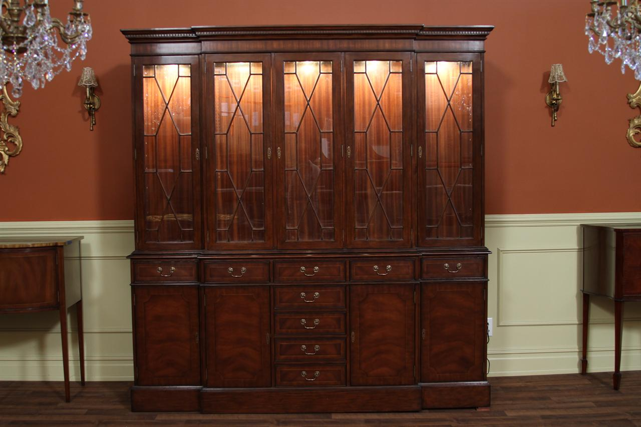5 door china cabinet high end mahogany china cabinet for High end doors
