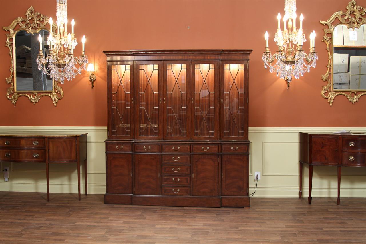 Higher End Mahogany China Cabinet