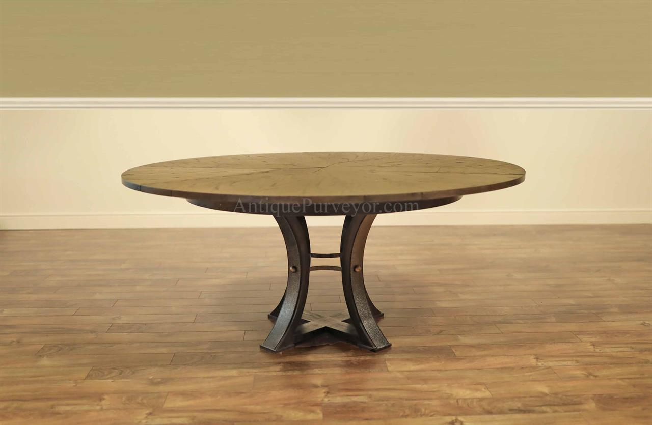 54-70 Dark Gray and Hammered Iron Steel Jupe Table