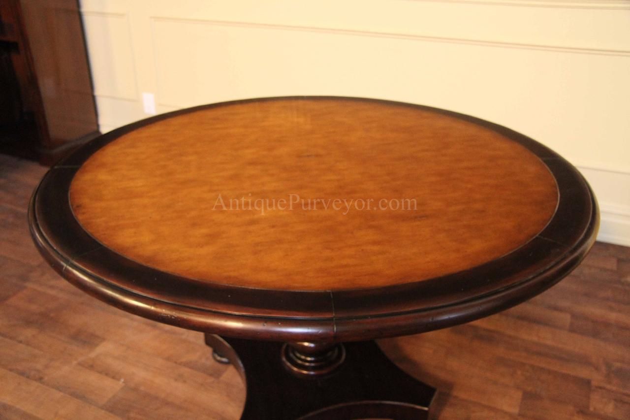 54 Round Blonde Pine Center Table, Kitchen or Dining Table for Round Dining Table Top View  54lyp