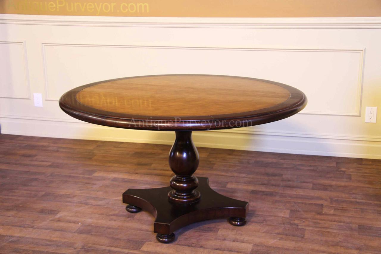 Ordinaire 54 Round Kitchen Or Dining Room Pedestal Table