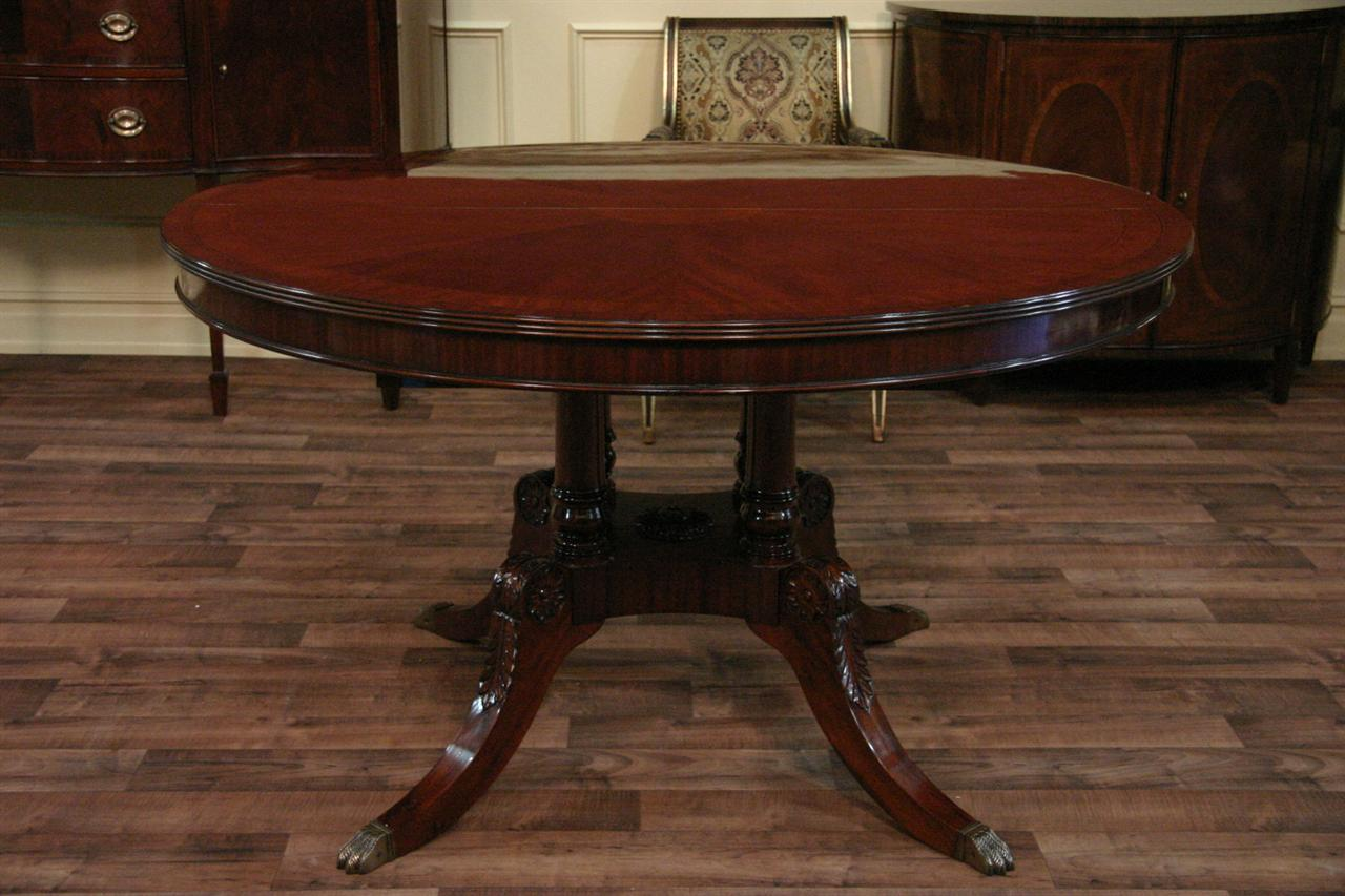 Mahogany dining room table viewing gallery