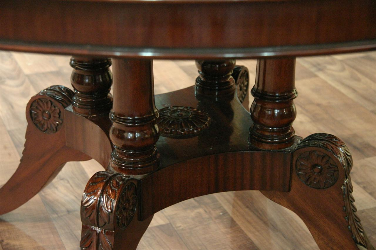 Stunning Details about 54 Round to Oval Mahogany Dining Table with Leaves 1280 x 853 · 116 kB · jpeg