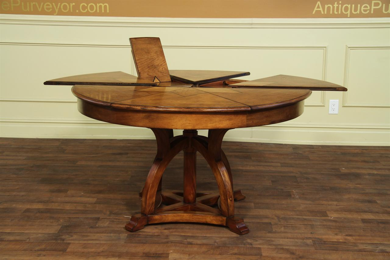 Solid Walnut Jupe Table Arts And Craft Expandable Dining Table