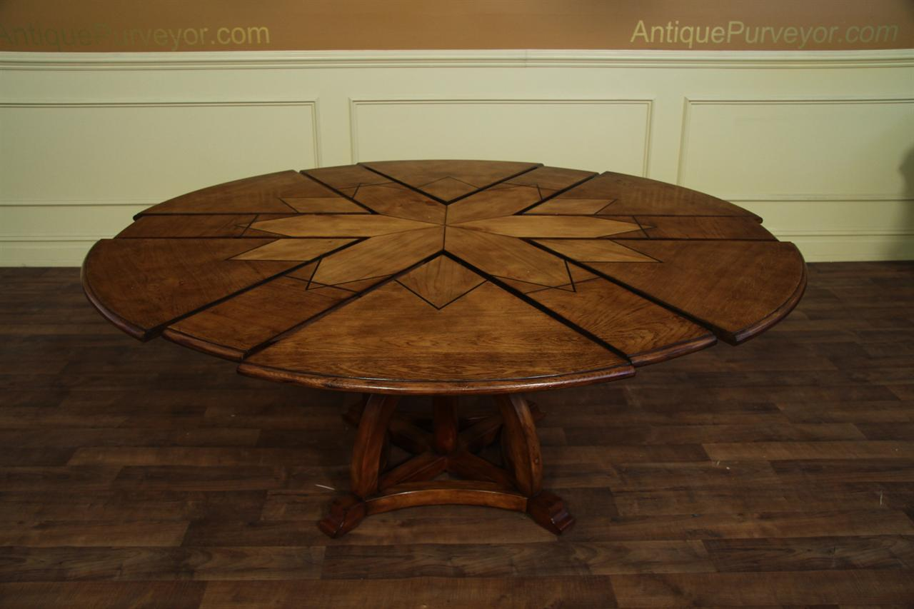 Solid Walnut Jupe TableArts And Craft Expandable Dining Table - 70 inch round pedestal dining table
