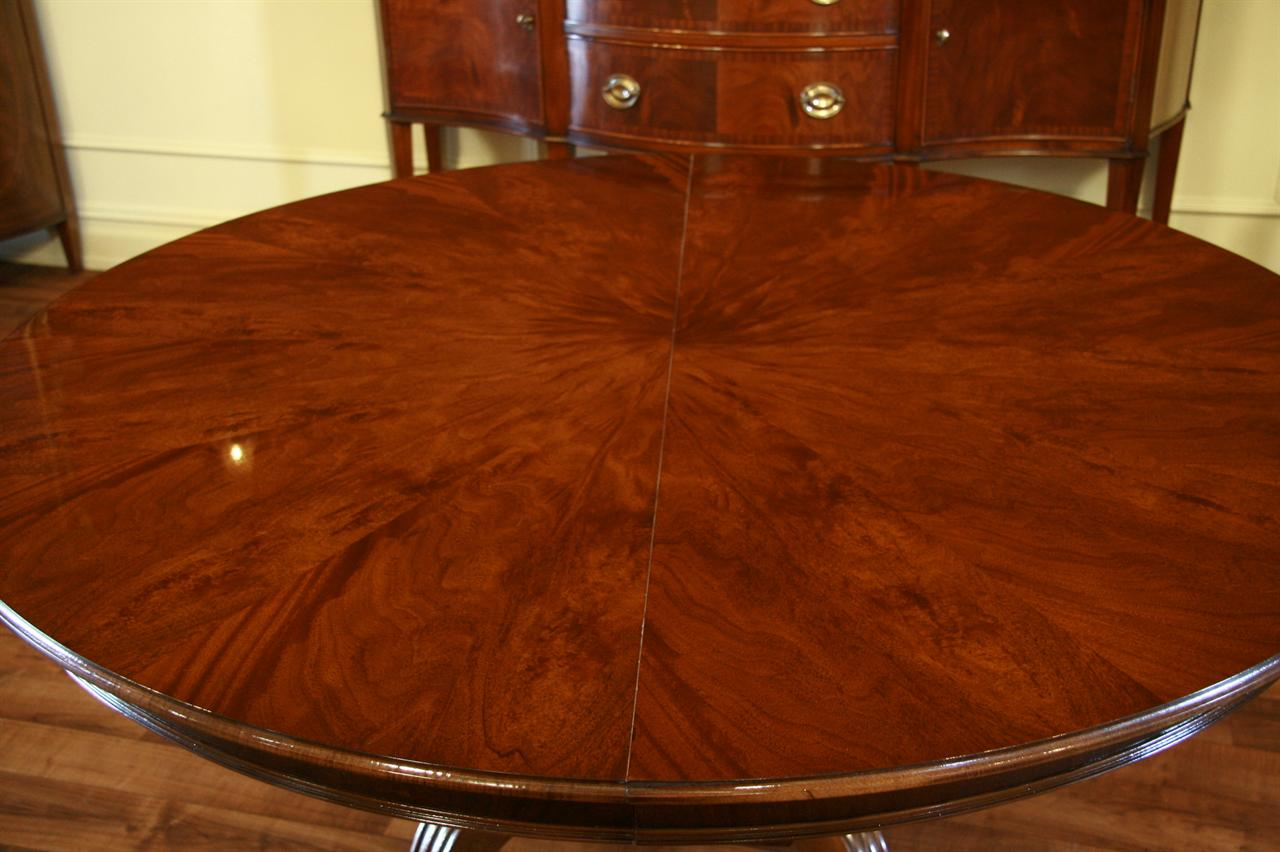 Round to Oval Mahogany Dining Table