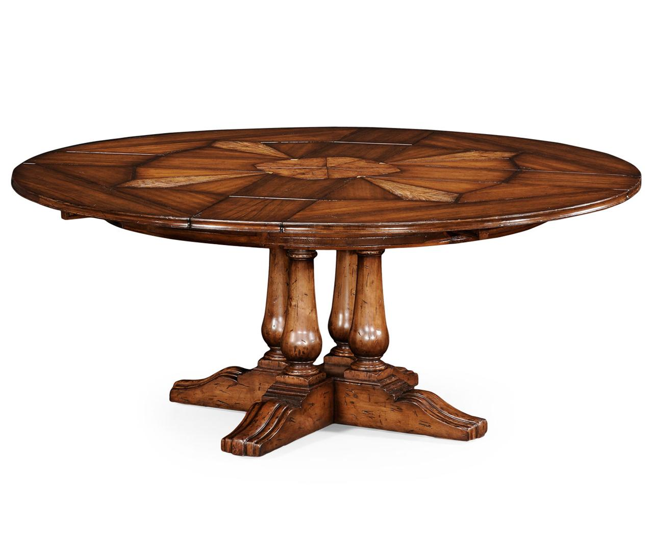 Jupe Table for Sale with Self Storing LeavesRound Dining  : 59 to 74 round country style dining table with hidden leaves 13632 from www.antiquepurveyor.com size 1280 x 1097 jpeg 89kB