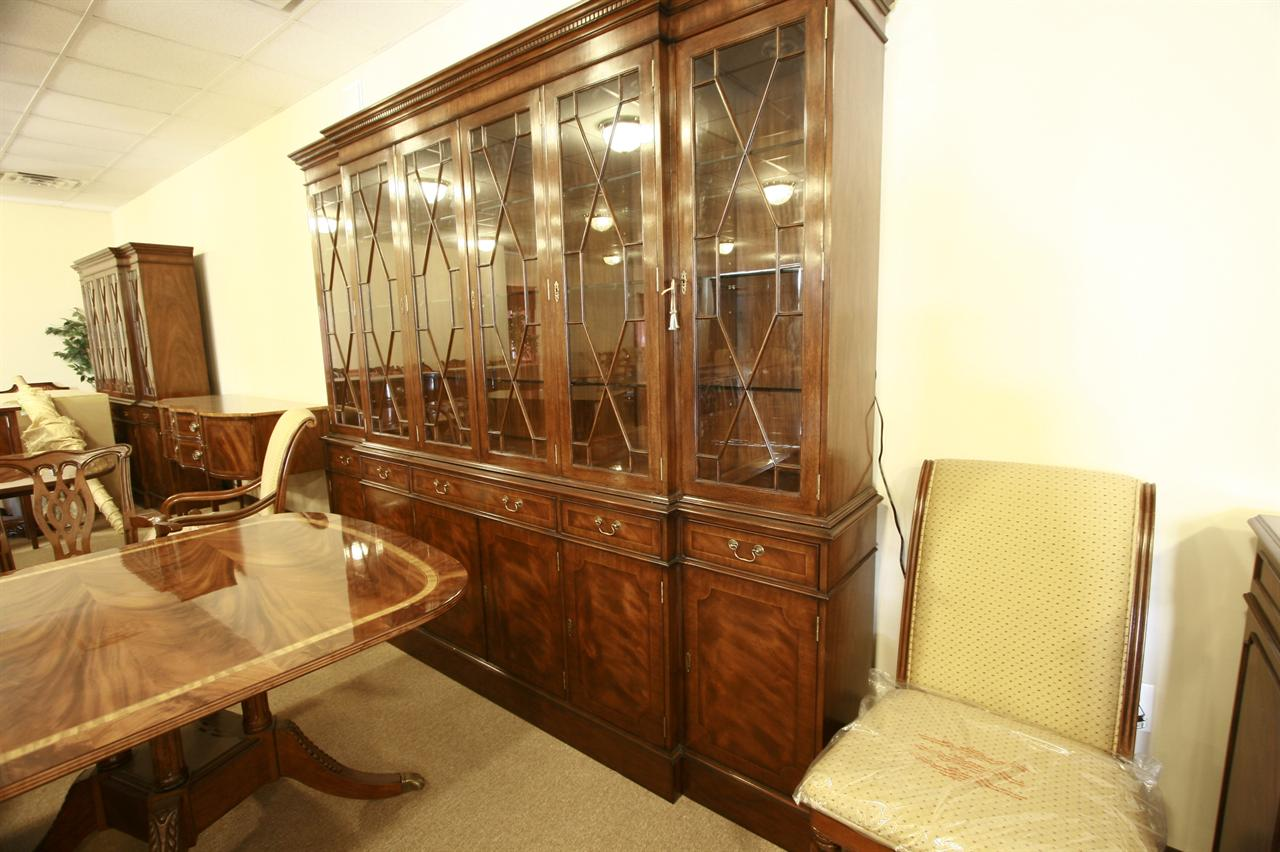 High End China Cabinets Extra Large Mahogany China Cabinet High End Furniture