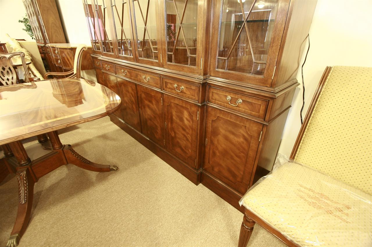 Extra large 6 door mahogany china cabinet for High end entry doors