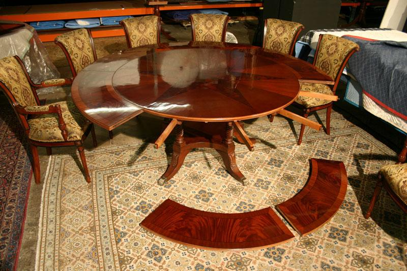 60 84 Round Dining Table With Leaves American Made Dining Room Table