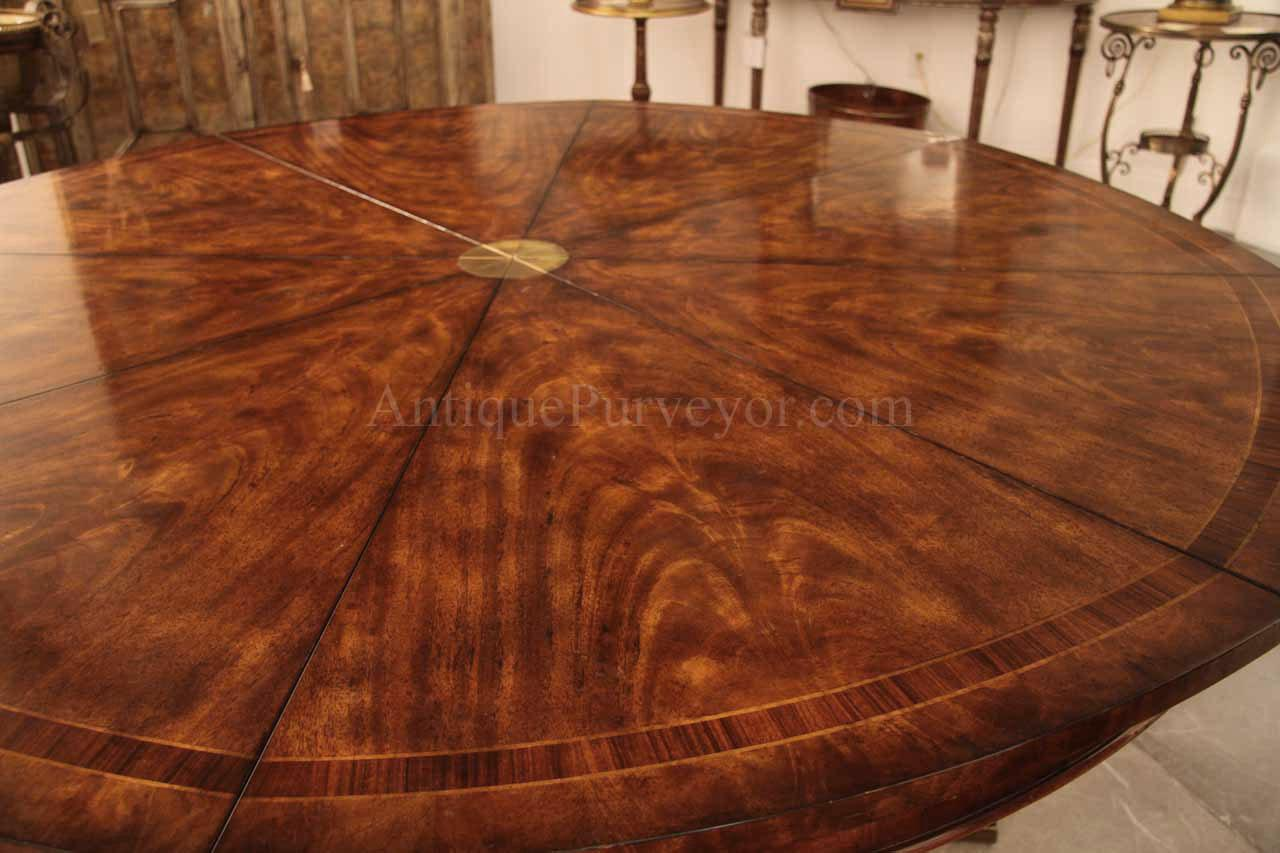 Luxurious 64 inch Round Dining Table Opens to 84 inch with ...