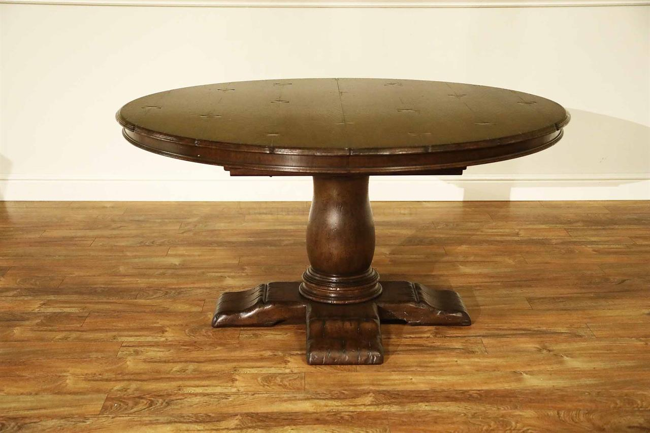 60 Inch Round Rustic Tiger Oak Dining Table Amp Self