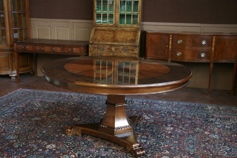 60 Round Dining Table , Mahogany Pedestal Table
