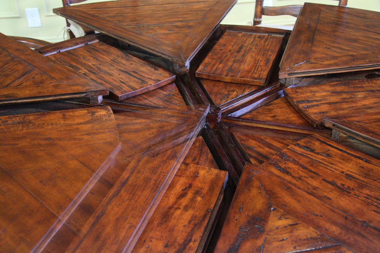 Round Mahogany Dining Table Jupe Hidden Leaf Dining Table
