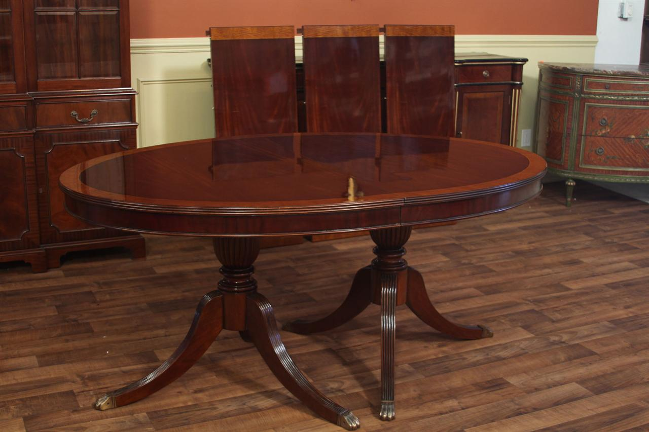 68 Quot Oval Mahogany Dining Room Table Higher End Designer