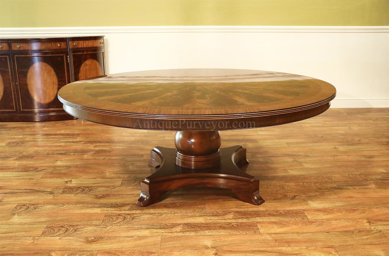72 Inch American made Round Mahogany Pedestal Table