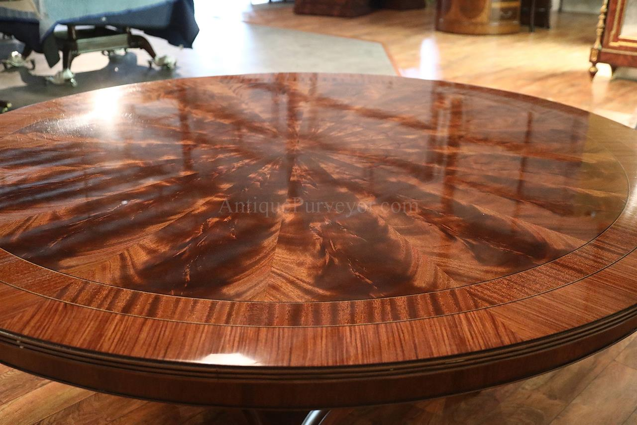 American Made 72 Inch Round Mahogany Pedestal Table