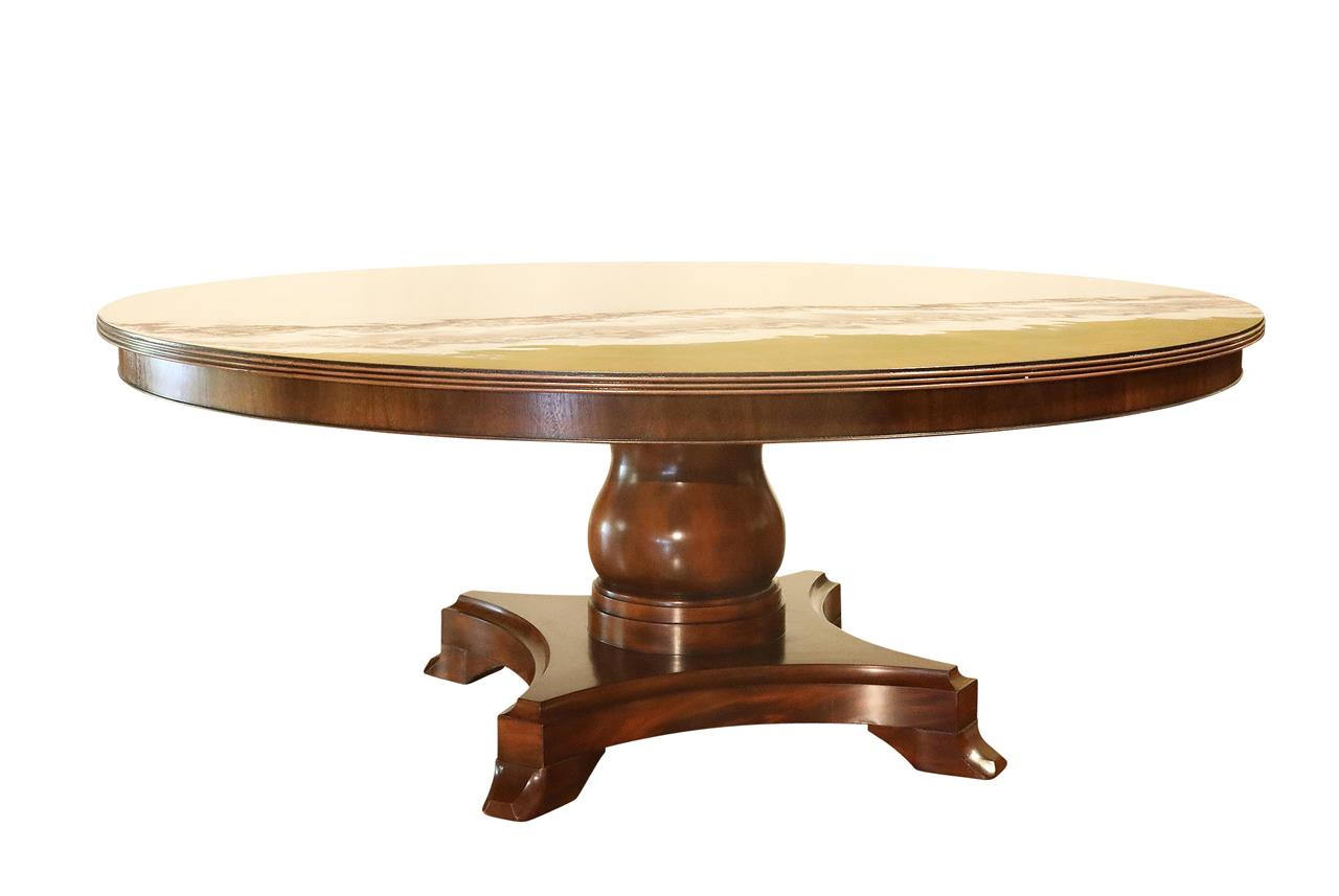 Antique Mahogany Dining Room Furniture American Made 72 Inch Round Mahogany Pedestal Table