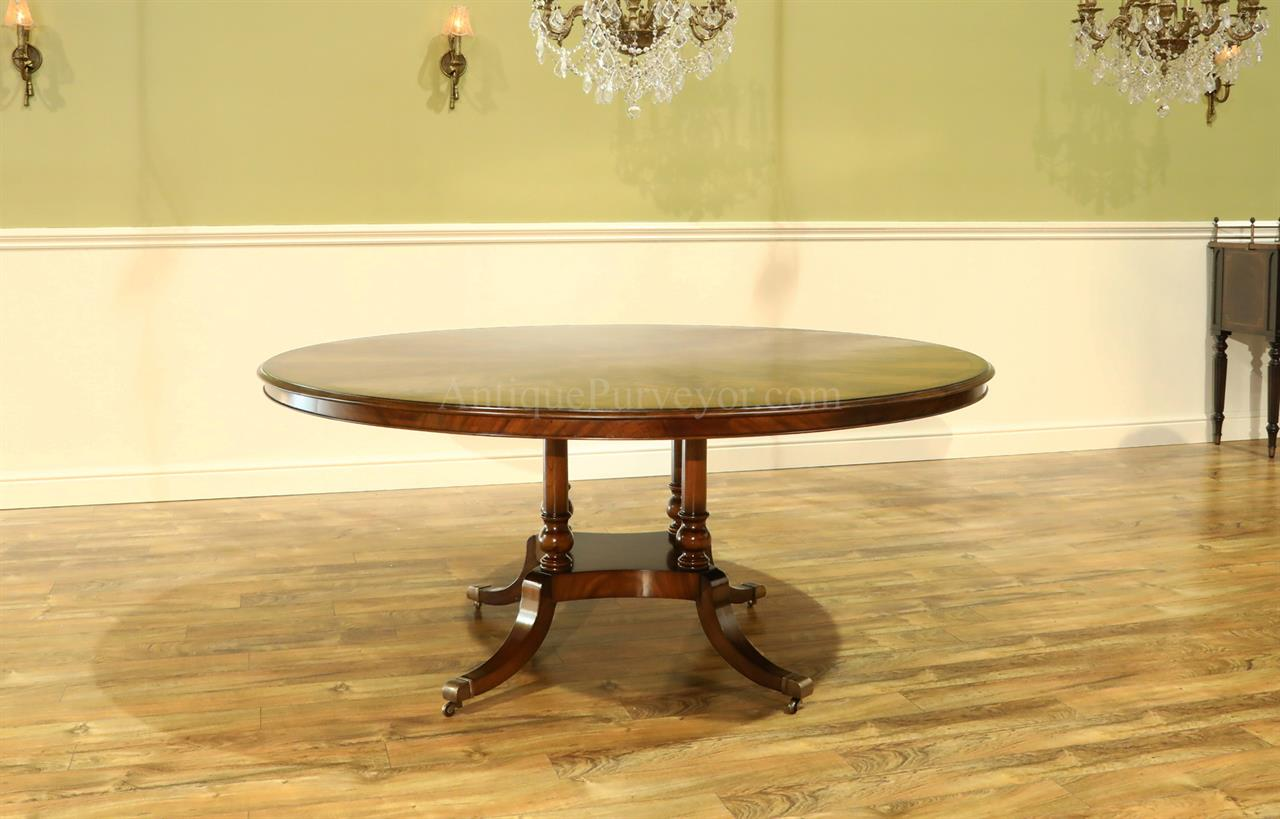 72 inch flame mahogany dining room table for Dining room table 72