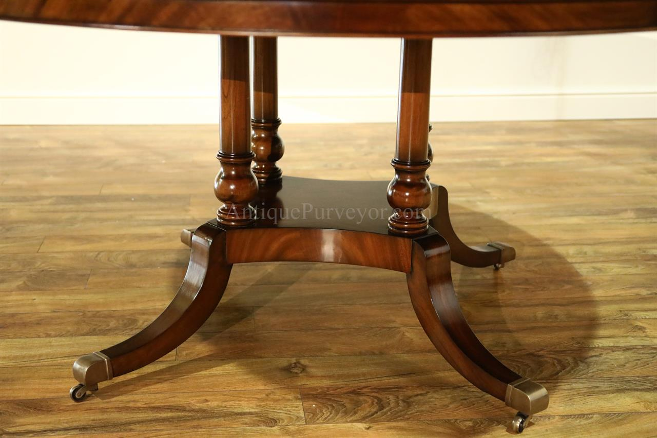 72 Inch Flame Mahogany Dining Room Table