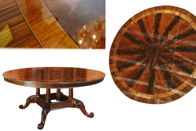 72 round dining table american large round dining for Round dining table 52 inch