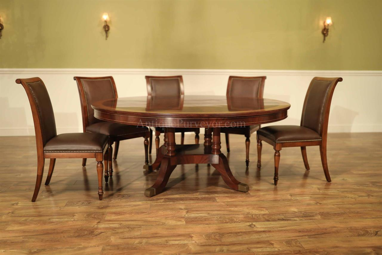 72 Inch Round Mahogany Dining Room Table