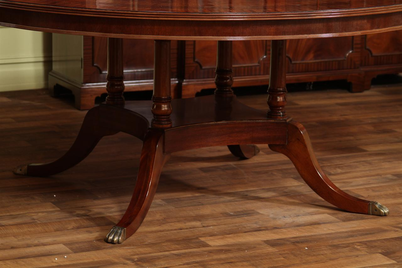 details about 72 round american made dining table flame mahogany
