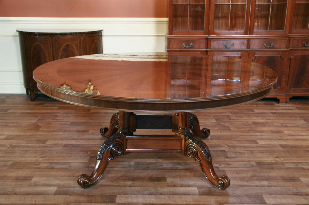 72 Round Dining Table American Large Round Dining  : 72 round dining table high end round mahogany dining table 9813 from www.antiquepurveyor.com size 1280 x 852 jpeg 116kB