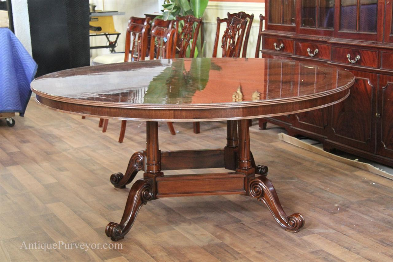 72 quot high end round mahogany dining table with duncan phyfe