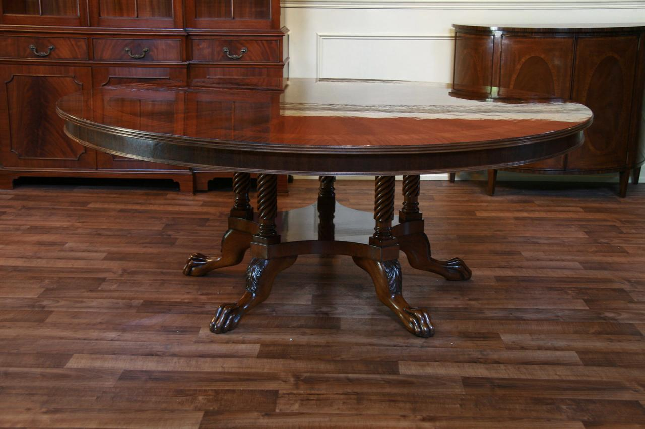 72 Round Mahogany Dining Table American Made Table Ebay