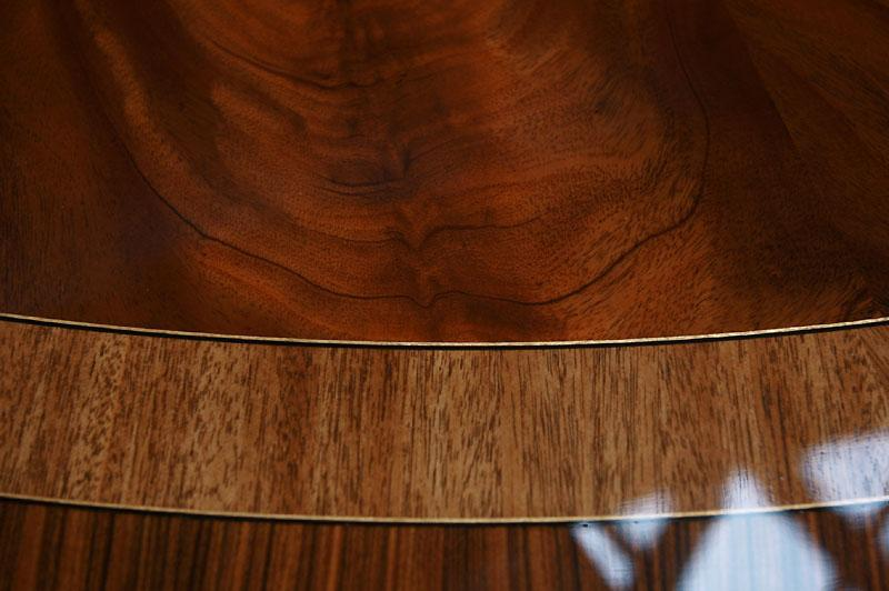 Rosewood And Mahogany Banded 72 Round Dining Table