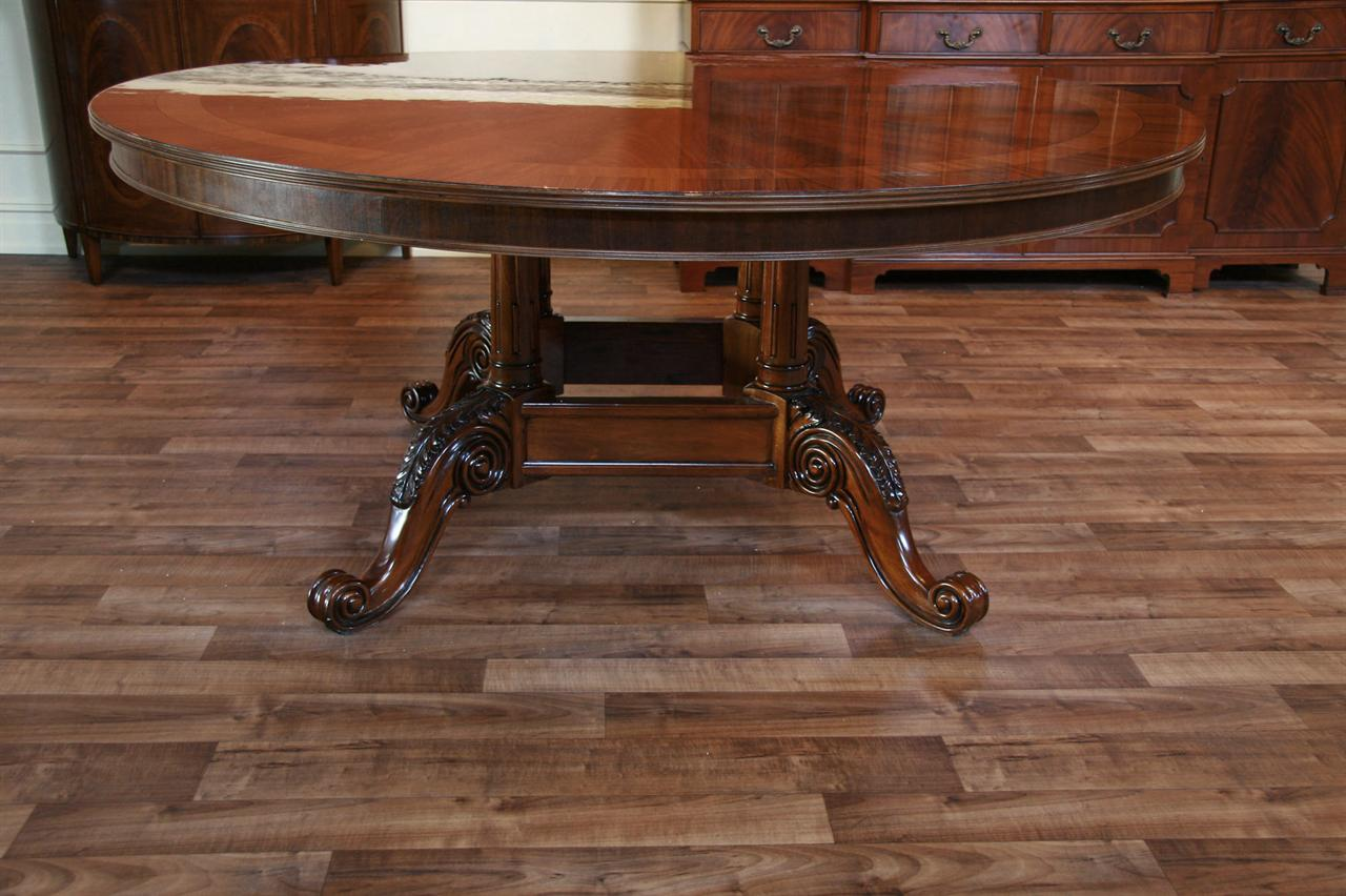 Dining table antique round dining table 72 for Antique dining room tables
