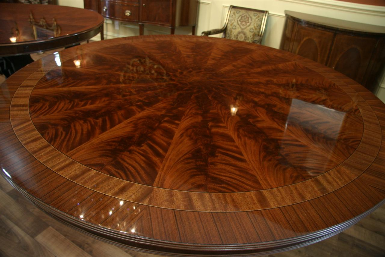72 034 high end round mahogany dining table antique reproduction dining room table ebay. Black Bedroom Furniture Sets. Home Design Ideas